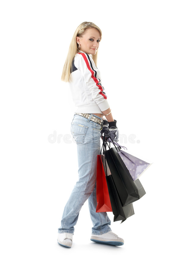 Shopping Teenage Girl #3 Royalty Free Stock Photography
