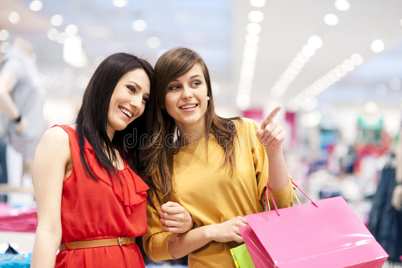 Shopping time stock image