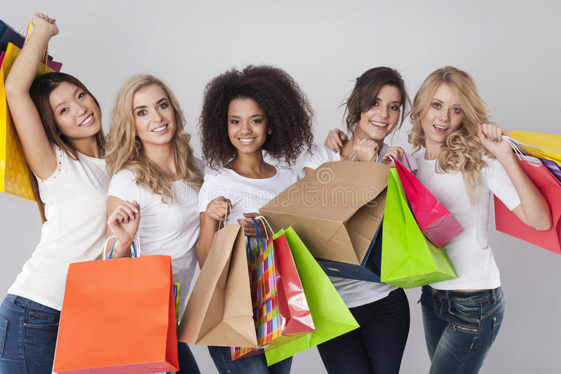Shopping time! stock photo