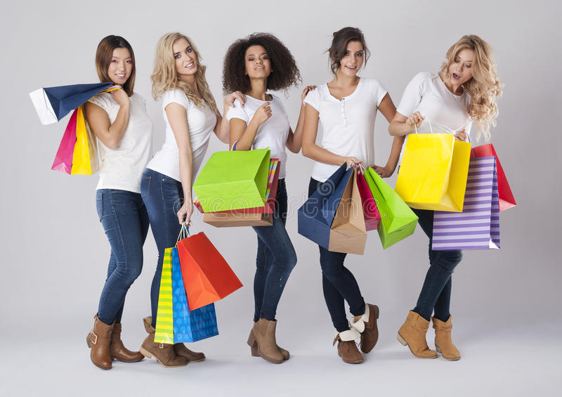 Shopping time! stock image