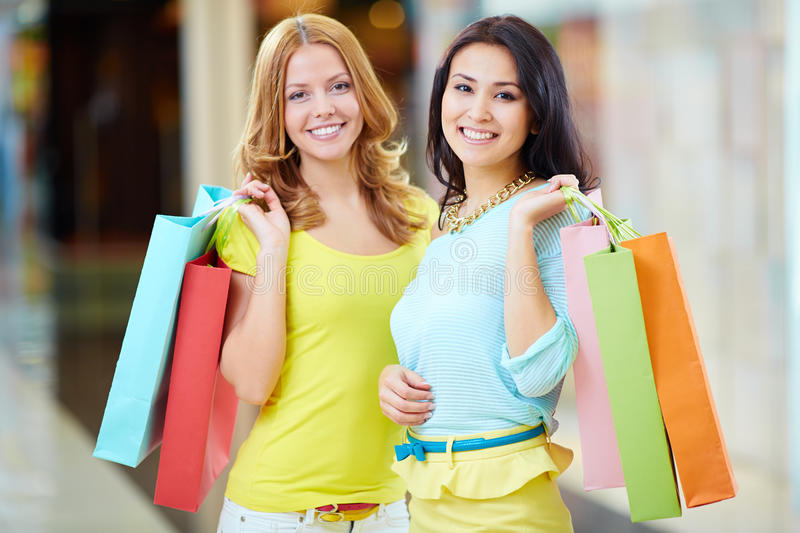 Shopping together stock images