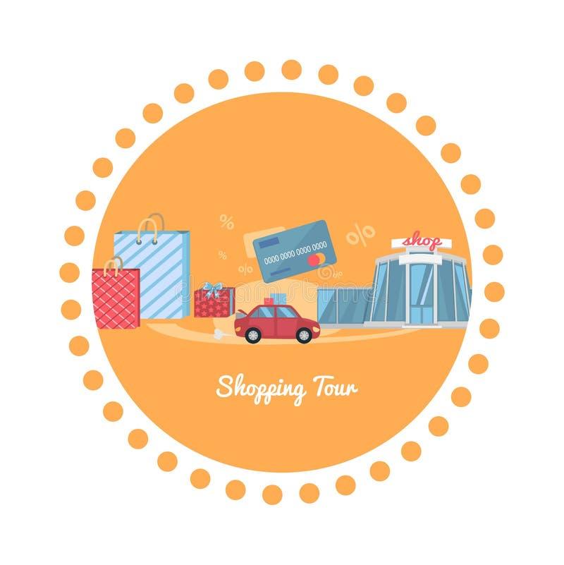 Shopping Tour stock illustration