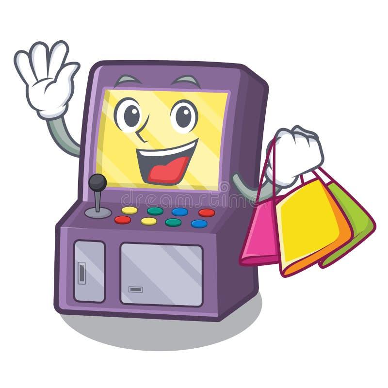 Shopping toy arcade machine in cartoon drawer. Vector illustration vector illustration