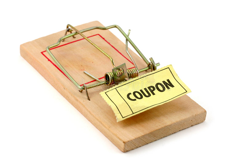 Shopping trap royalty free stock photography