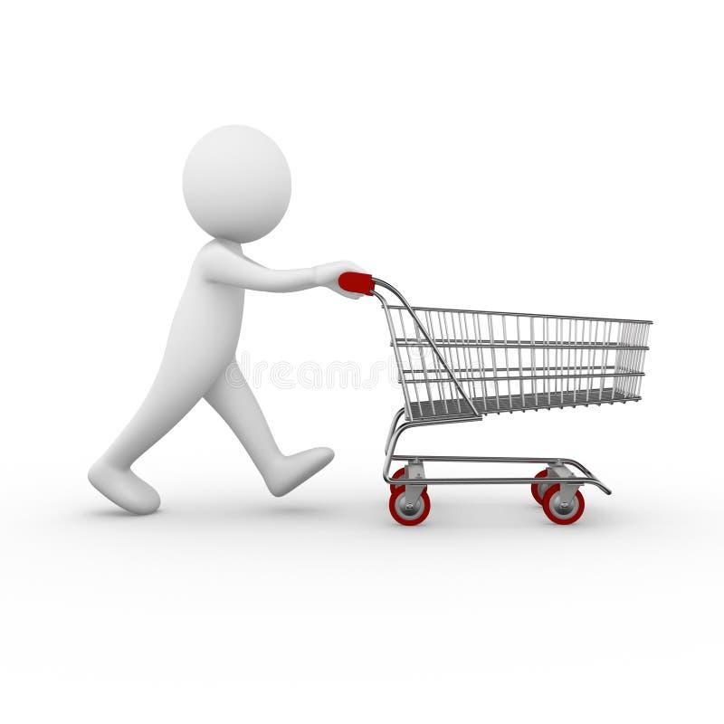 Shopping trolley vector illustration
