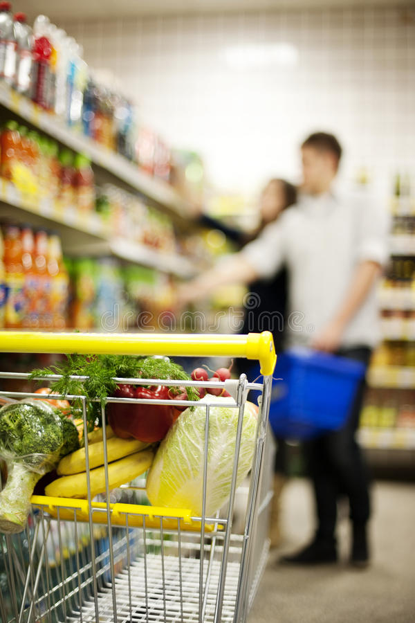 Download Shopping trolley stock photo. Image of cabbage, lifestyles - 29172996