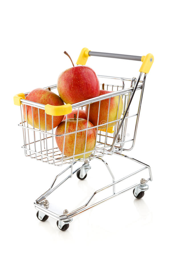 Download Shopping Trolley And Apples Stock Image - Image: 23514783