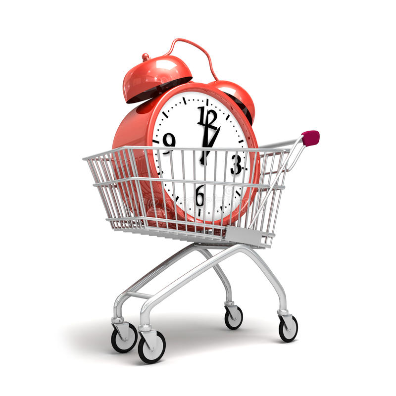 Download Shopping trolley cart stock illustration. Image of concept - 22430827