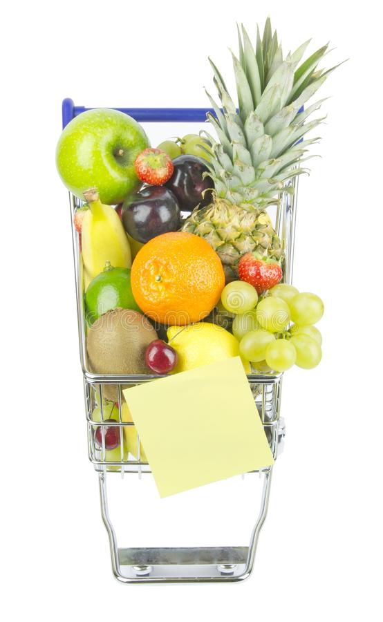 Download Shopping Trolley and Fruit stock image. Image of plum - 28025123