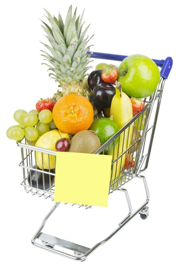 Download Shopping Trolley and Fruit stock image. Image of grapes - 28025133