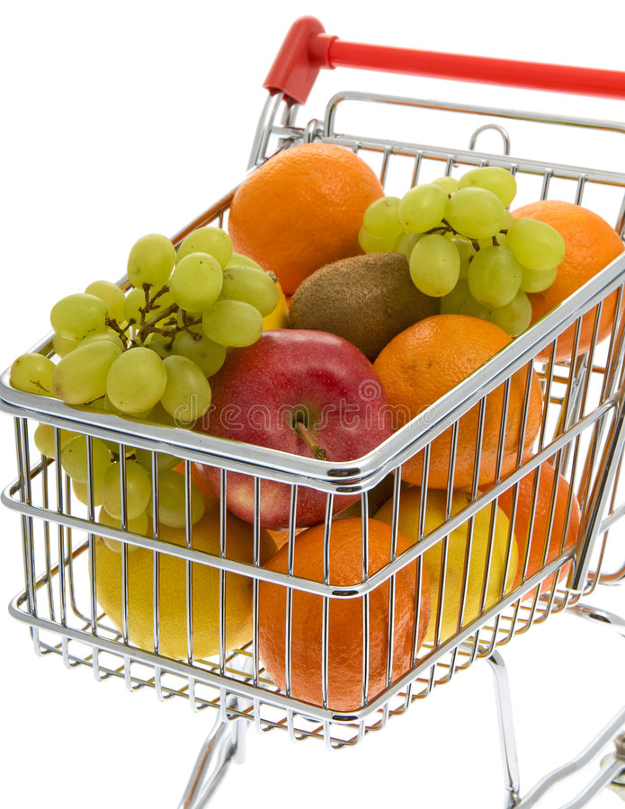 Download Shopping Trolley With Fruits, Supermarket Stock Image - Image: 7586223
