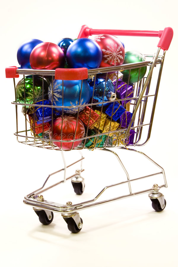 Download Shopping Trolley Full Of Christmas Decorations 3 Stock Image - Image: 1774121