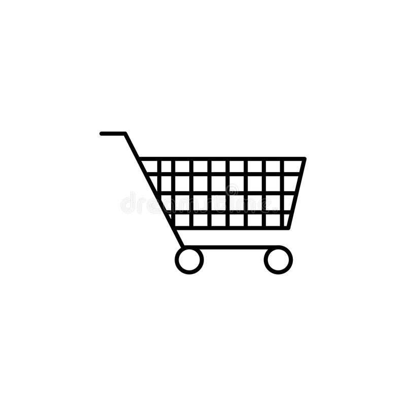 shopping trolley icon. Element of simple icon for websites, web design, mobile app, info graphics. Thin line icon for website desi vector illustration