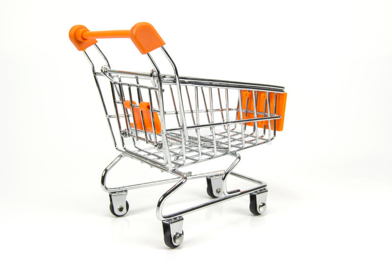 Shopping Trolley Isolated stock photo