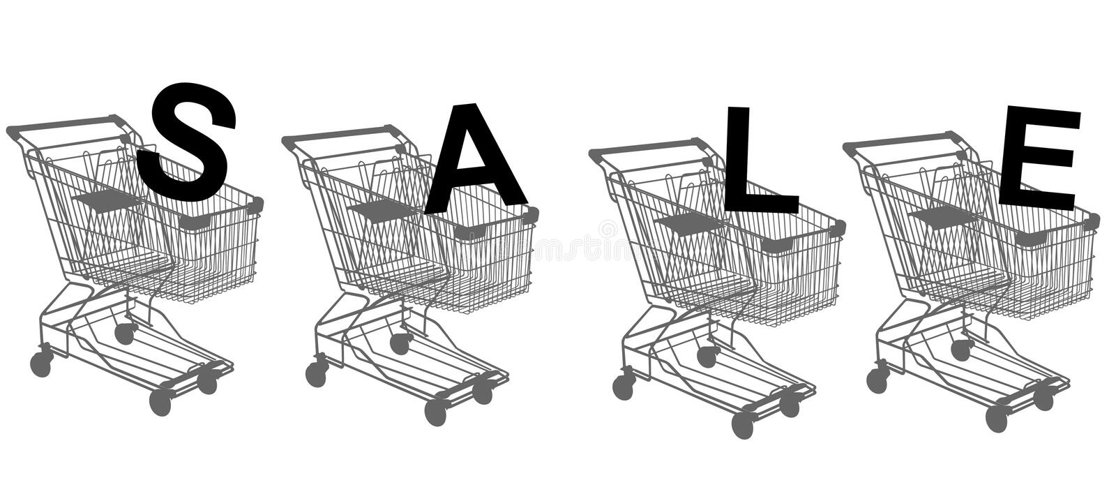 Download Shopping Trolley Isolated On White Royalty Free Stock Image - Image: 13139126