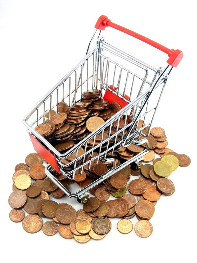 Download Shopping Trolley With Money Stock Image - Image: 18079775