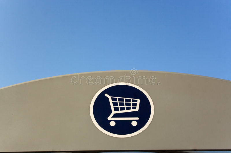 Download Shopping trolley sign stock image. Image of cover, park - 3158781