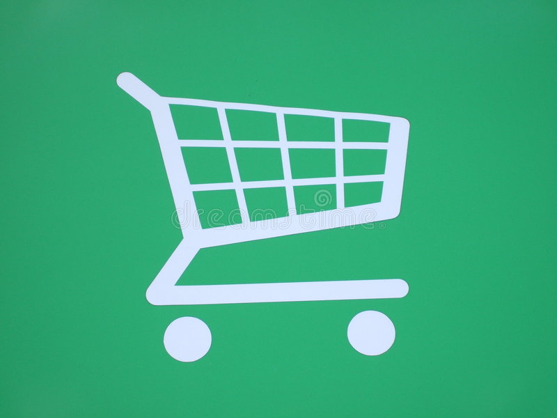 Download Shopping Trolley Sign. stock image. Image of picture, cart - 9282477