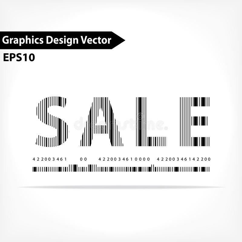 Download Shopping Typography Barcode Design Stock Illustration - Image: 34409259