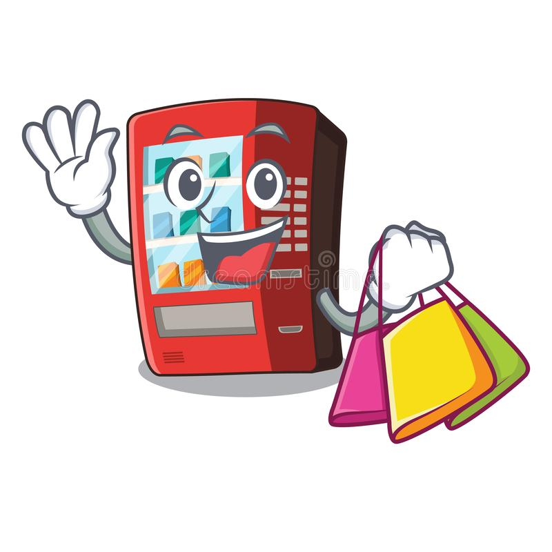 Shopping vending machine isolated with the mascot. Vector illustration vector illustration