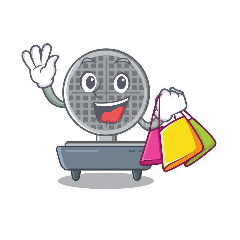 Shopping waffle iron isolated in the cartoon vector illustration