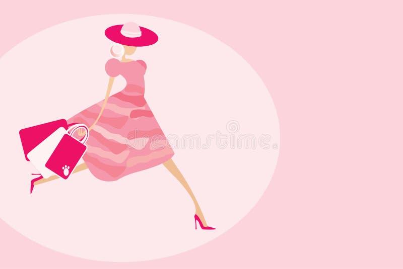 Shopping walk vector illustration
