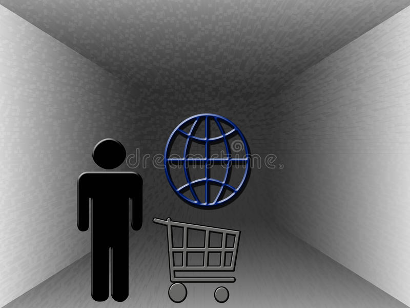 Shopping On the Web royalty free stock photography