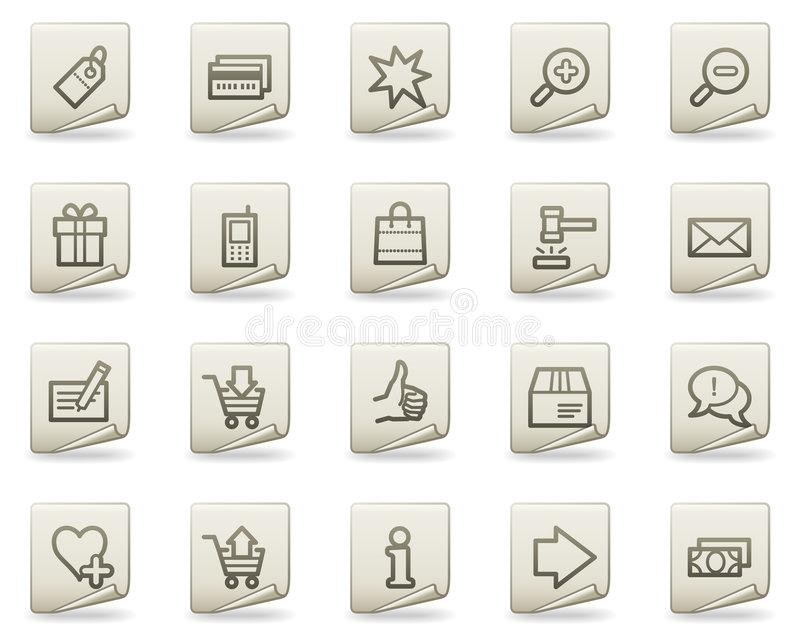 Download Shopping Web Icons, Document Series Royalty Free Stock Images - Image: 9107129