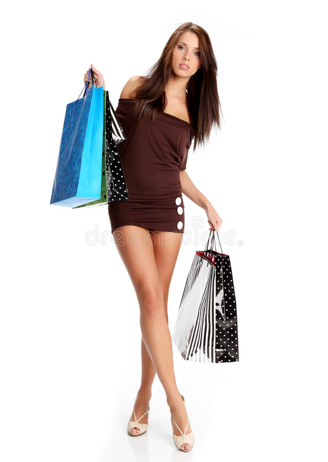 Download Shopping woman. stock photo. Image of purchasing, young - 12941802