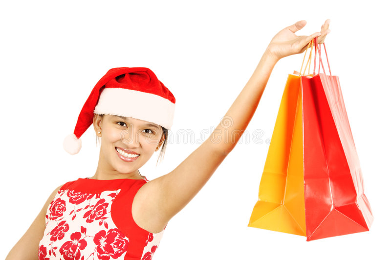 Download Shopping woman stock photo. Image of happy, christmas - 1404138