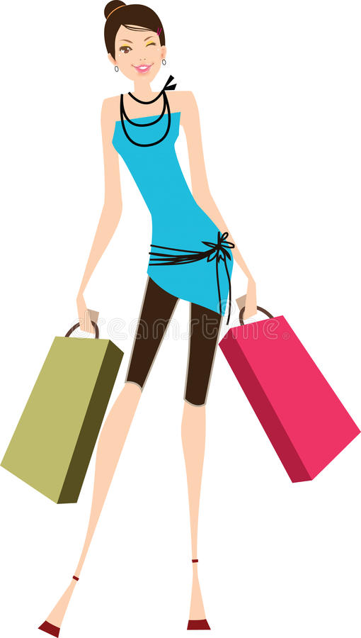 Shopping woman royalty free illustration