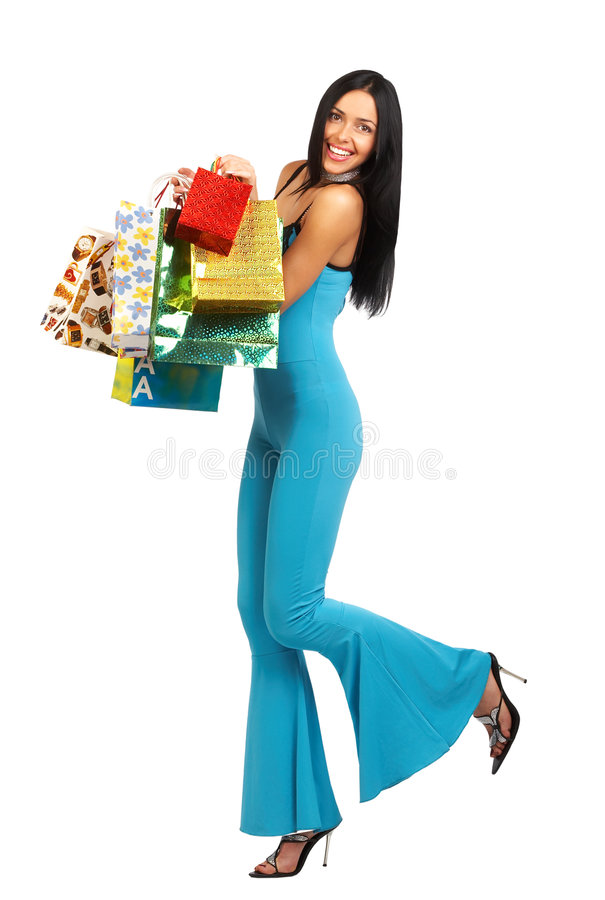 Download Shopping woman stock photo. Image of laughing, young, shopper - 1820658