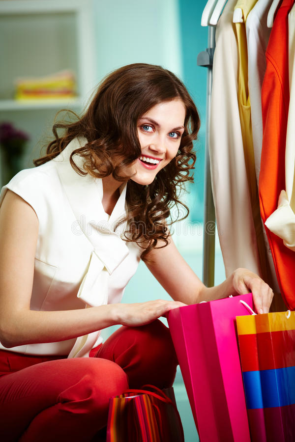 Download Shopping woman stock image. Image of buyer, lady, charming - 24739301