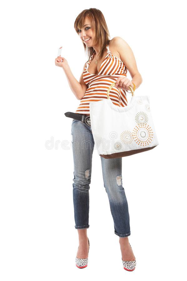 Download Shopping Woman stock image. Image of holiday, beauty, girl - 2480177