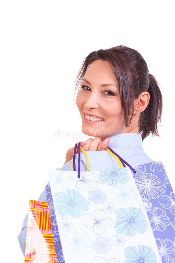 Download Shopping woman stock photo. Image of portrait, shop, caucasian - 27608546