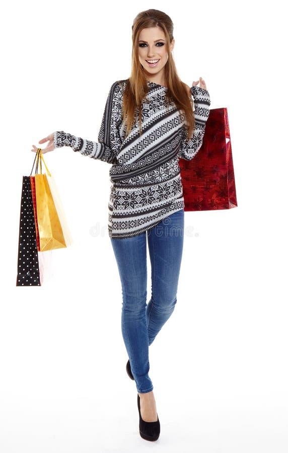 Download Shopping woman stock image. Image of fullbody, smile - 28051179