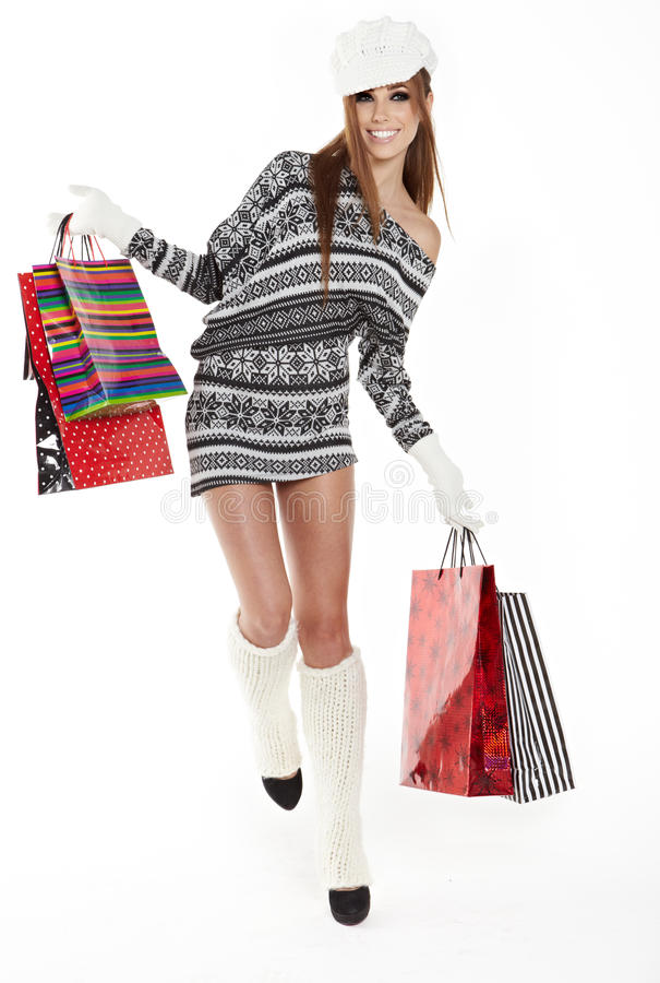 Download Shopping woman stock image. Image of looking, cute, copyspace - 28129375