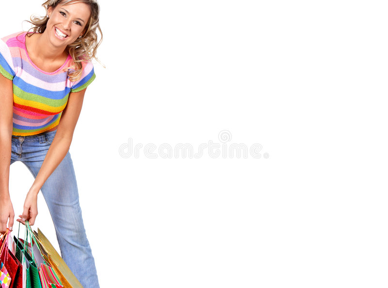 Download Shopping woman stock image. Image of shopper, girl, women - 5437855