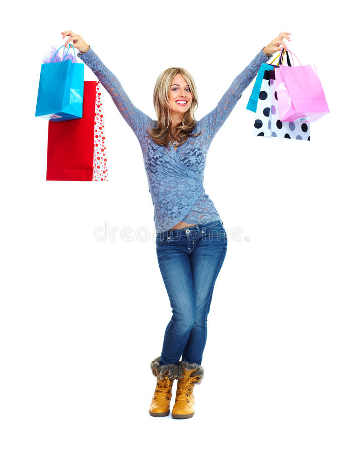 Download Shopping woman. stock image. Image of fashionable, christmas - 32541743