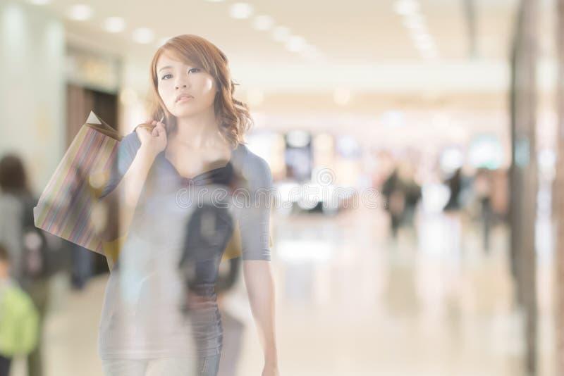 Shopping woman royalty free stock image