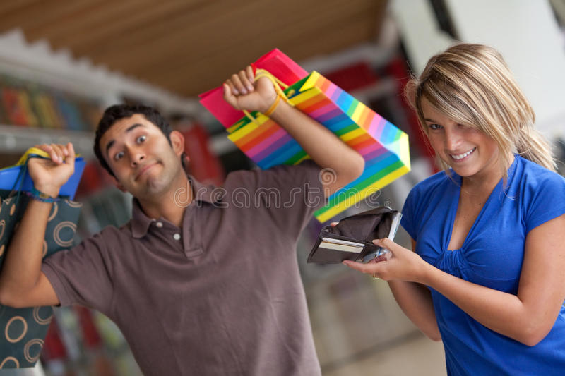 Download Shopping Woman Emptying A Wallet Stock Photo - Image: 12529794