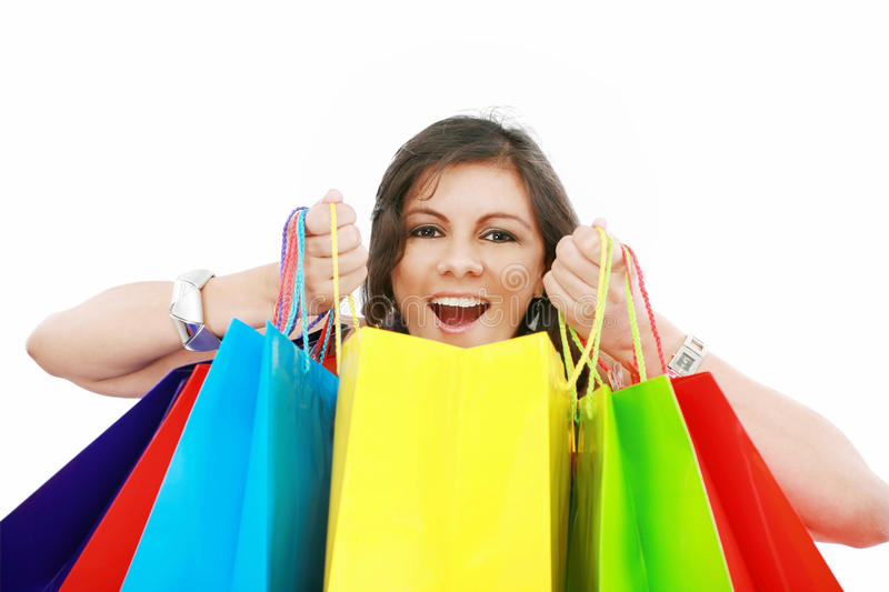 Download Shopping Woman Excited Stock Photo - Image: 27398410