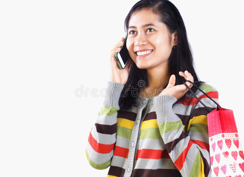 Download Shopping Woman On The Phone Royalty Free Stock Photo - Image: 35251085