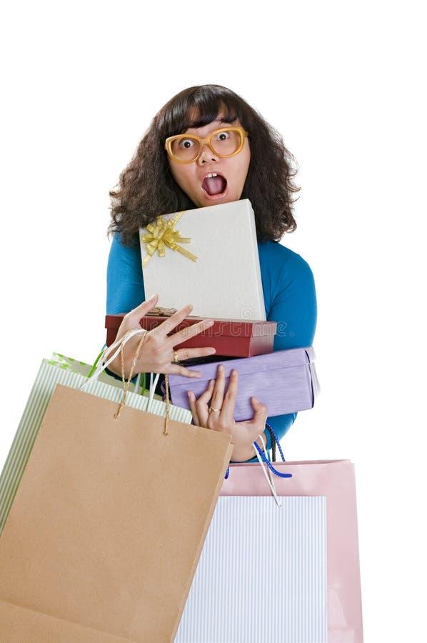 Shopping Woman Shock Stock Photo