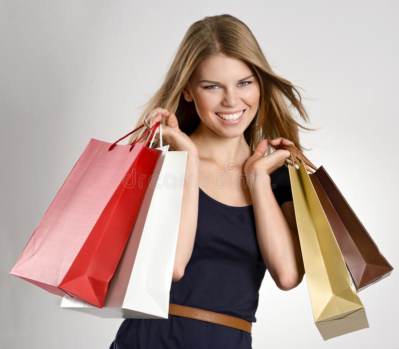 Download Shopping woman stock photo. Image of fashion, model, caucasian - 33618472