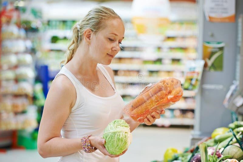 Shopping woman at store royalty free stock photo