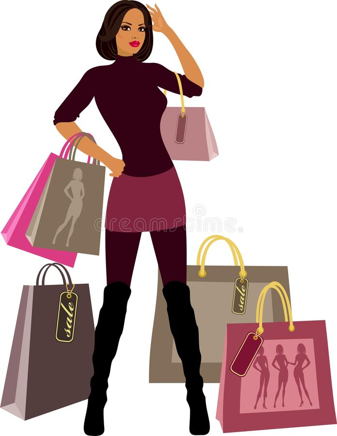 Free Shopping Women Royalty Free Stock Photos - 18676408