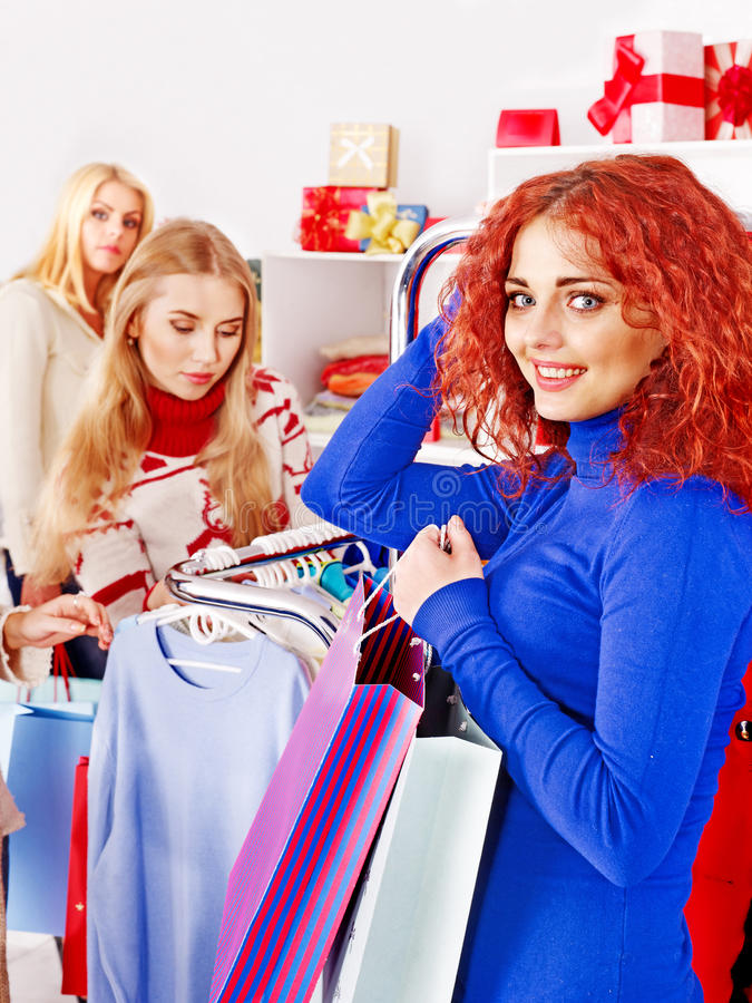 Download Shopping Women At Christmas Sales. Royalty Free Stock Photography - Image: 28880527