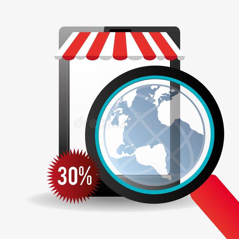 201Shopping y comercio electrónico libre illustration