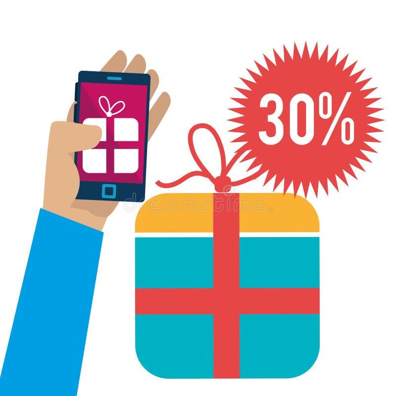 201Shopping y comercio electrónico ilustración del vector